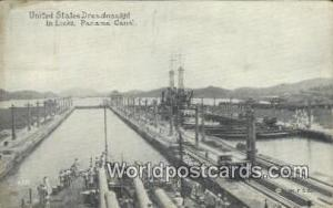 República de Panamá United State Dreadnaught Panama Canal  Printed Photo