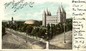 UT - Salt Lake City. Temple Square circa 1900