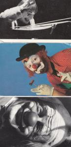 Clown Mario Del Curto 3x Postcard s