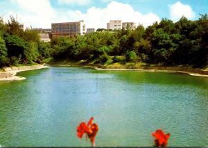 Japan Okinawa Ryukyu University From Ryutanike Pond 1985