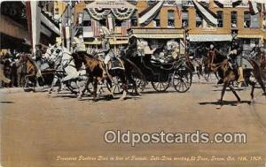 President Porfirio Dioz, Parade El Paso Texas, USA Oct 16, 1909 Postcard Post...