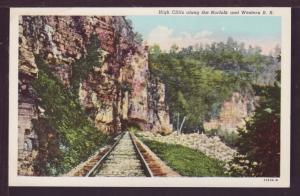 High Cliffs along the Norfolk and Western RR Post Card 3785