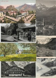 Switzerland - Arco Oberstdorf Bernina Hospiz and more Postcard Lot of 20 01.12