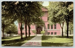 Columbus City Indiana~High School~Path to Front Doors~Spring Trees~1910