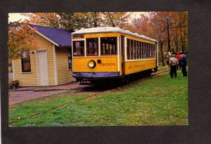 CT Connecticut Company Trolley Car Warehouse Point Connecticut Postcard