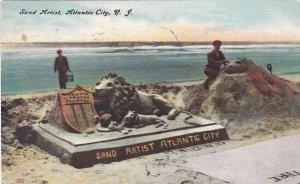 New Jersey Atlantic City Sand Artist 1910