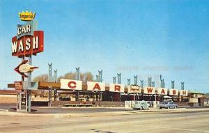 Los Angeles CA Imperial Car Wash Old Cars VW Postcard