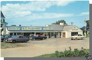 Harwichport, Massachusetts/MA Postcard, Post Office & Shopping Center, Cape Cod