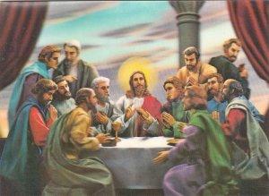 P1882 vintage postcard religion 3-d scene neat