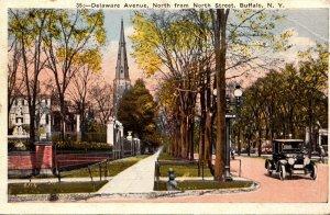 New York Buffalo Delaware Avenue North From North Street