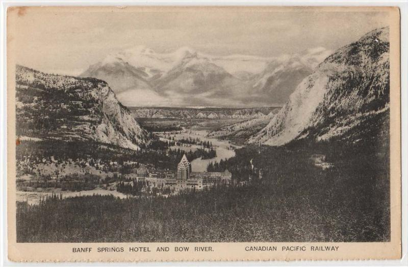 Baniff Springs Hotel &amp Bow River - Canadian Pacific RR