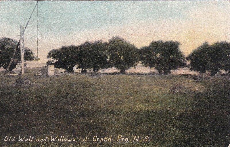 GRAND PRE, Nova Scotia, Canada, PU-1908; Old Well And Willows