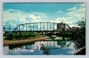 Fairbanks AK-Alaska, Chena Bridge, Farthest North University Chrome Postcard