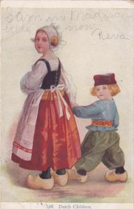 Dutch Children #68, Girl Leading Little Boy Along by the Hand, 1907