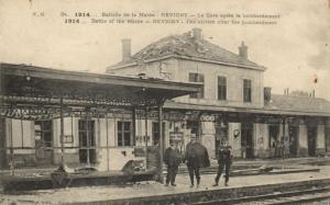 CPA Militaire (Dep.55) Revigny - La Gare aprés le bombardement (91967)