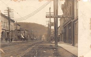 Bolivar NY~Main Street~Miss Marth Fine Millinery~Telephone Pay Station~1907 RPPC