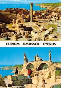 Cyprus Curium Limassol Basilica of Curium Ruins Statues