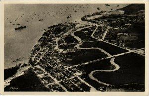 PC CPA MOZAMBIQUE, BEIRA, AERIAL VIEW, VINTAGE POSTCARD (b20829)