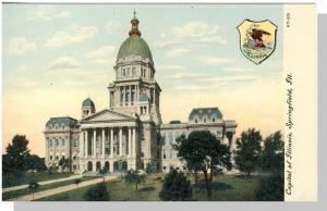 Early Springfield, Illinois/IL Postcard, Capitol Of Illinois