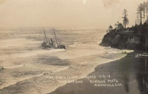RP:  Stmr SANTA CLARA Wreck , COOS BAY , Oregon , 1915