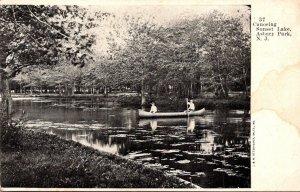 New Jersey Asbury Park Canoeing On Sunset Lake