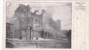 Maine Portland Ruins Of City Hall January 24, 1908