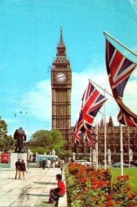 England London Parliament Square and Big Ben 1978