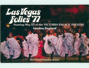 Unused Pre-1980 TROPICANA RISQUE FRENCH SHOWGIRLS Las Vegas NV v4194-16
