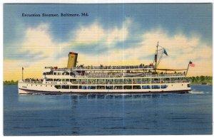 Excursion Steamer, Baltimore, Md.