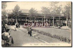 Old Postcard Vichy Park and Palais des Sources