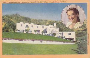 Residence of Dorothy Lamour (Portrait),  Beverly Hills, California, 30-40s