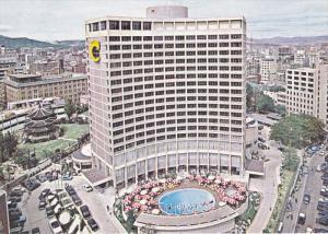 Aerial View, Chosun Hotel, Swimming Pool, SEOUL, South Korea, 50-70´s