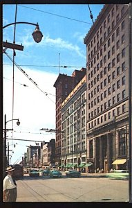 USA Postcard  West Federal Street Youngstown Ohio