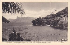 Nictheroy - Corcovado Mountain from the Cove of Sao Francisco , BRAZIL , 20-30s