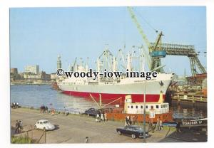 cd0379 - Colombian Cargo Ship - Republica De Colombia , built 1964 - postcard