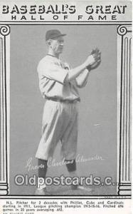 Baseball Postcard Base Ball Post Card Printed 1977 Baseball's Great Hall of F...