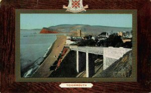Teignmouth Beach Promenade Plage Panorama Postcard