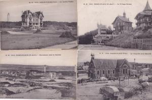 Paris Plage Suisse Village 4x Antique French Postcard s