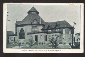 SCHENECTADY NEW YORK UNION PRESBYTERIAN CHURCH VINTAGE POSTCARD NY 1908