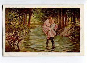 257241 W.B. KINE Lovers Kiss Playing Bridge Old Life 1908 year