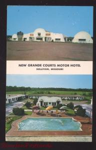 SULLIVAN MISSOURI NEW GRANDE MOTEL POSTCARD SWIMMING POOL ROUTE 66