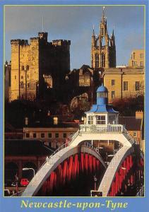 England Newcastle-upon-Tyne Swing Bridge Castle Keep St. Nicholas Cathedral