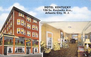 Atlantic City NJ~Hotel Kentucky~Inside Out~Ground Floor Shops~Lobby~1940s Linen