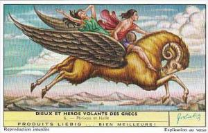 Liebig Vintage Trade Card S1758 Gods &  Heroes Ancient Greece 1961 No 6 Ph...
