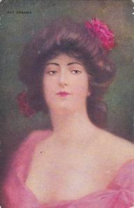 Female Head portrait DAY DREAMS , PU-1908