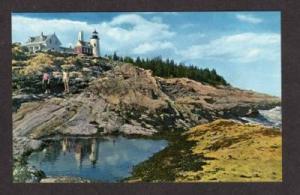 ME Pemaquid Light House Lighthouse MAINE POSTCARD PC