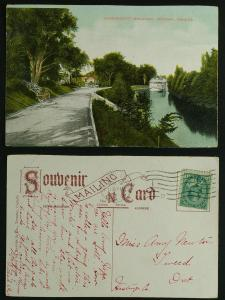 Government Driveway, steamship on Canal 1909 g-vg