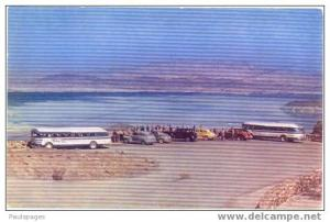 Old Buses and Cars at Lakeview Point Lake Mead Nevada, NV, pre-zip code chrome