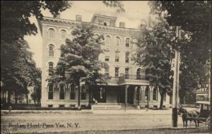 Penn Yen NY Benham Hotel c1910 Postcard