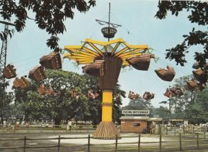 The Flying Dutchman Fair Ride Drayton Manor Zoo Staffordshire 1980s Postcard